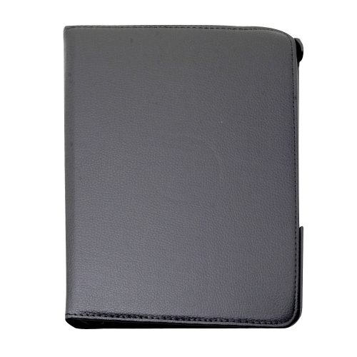 360 Rotating Leather Hard Case Cover For Samsung Galaxy Tab 4 10.1 - Black