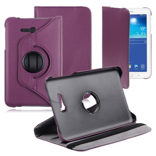 Samsung Galaxy Tab 3 Lite T110 T111 Rotating Case - Purple