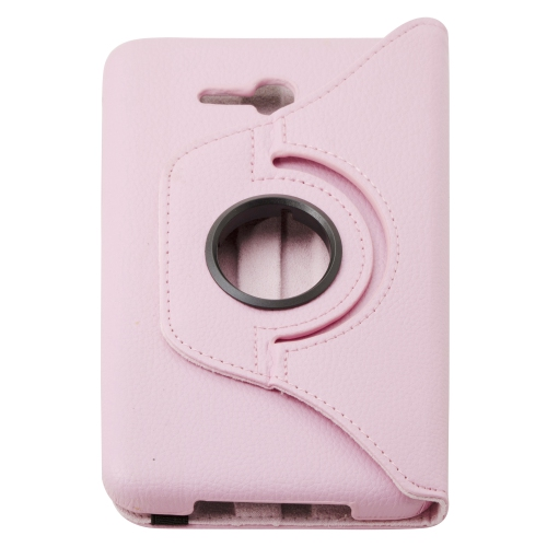 Etui Rotatif Samsung Galaxy Tab 3 Lite T110 T111 - Rose