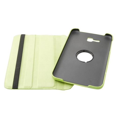 Etui Rotatif Samsung Galaxy Tab 3 Lite T110 T111 - Vert