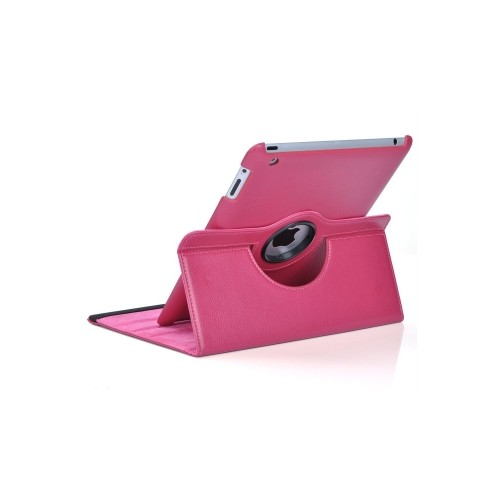 iPad 6 Air 2 360 Rotating Case - Hot Pink