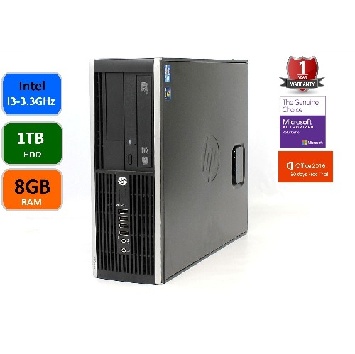 HP PRO 6300, INTEL I3-3220-3.3 GHZ, 8GB MEMORY, 1TB HARD DRIVE,DVDRW, WINDOWS 10 PRO, WIFI,REFURBISHED, 1 YEAR WARRANTY