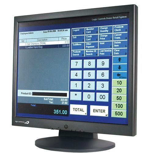 Logic Controls Le1017 17 Lcd Touchscreen Monitor - 8 Ms -
