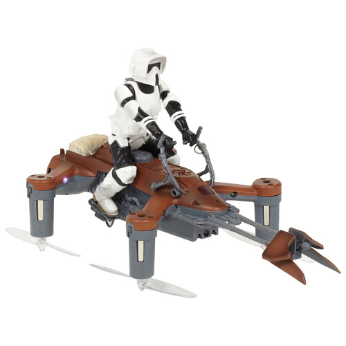 Propel Star Wars Speeder Bike Battling Quadcopter Drone