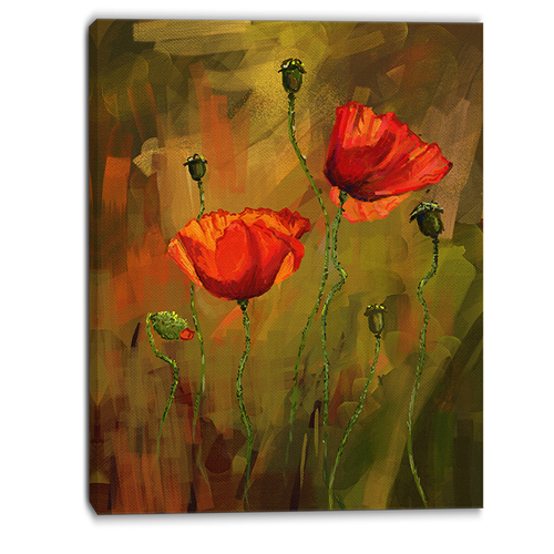 Designart watercolor poppy flowers floral art canvas print designart watercolor poppy flowers floral art canvas print 30x40 posters best buy canada mightylinksfo