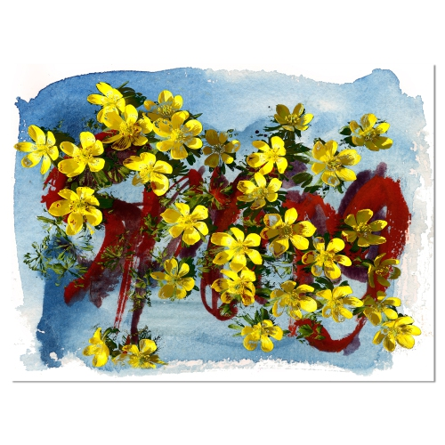 Designart lettering and yellow spring flowers floral art canvas designart lettering and yellow spring flowers floral art canvas print 20x12 posters best buy canada mightylinksfo
