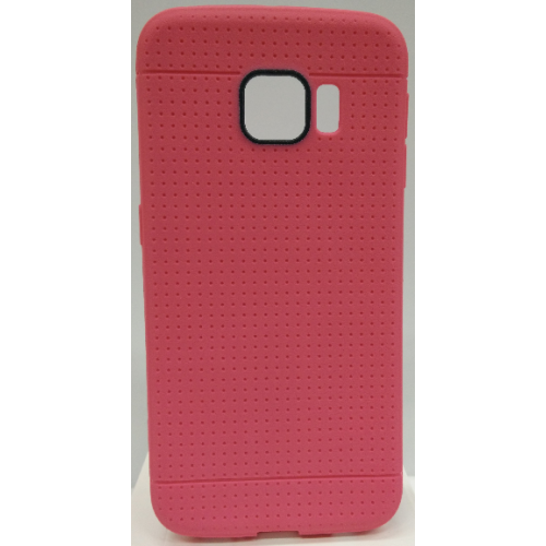Samsung Galaxy S6 Edge Dotted TPU Case - Hot Pink