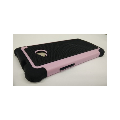 Hybrid Hard Phone Case Cover Accessory For HTC One M7 - Pink