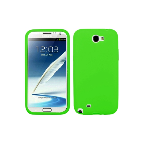 Soft Silicone Skin Gel Case for Samsung Galaxy Note 2 - Green