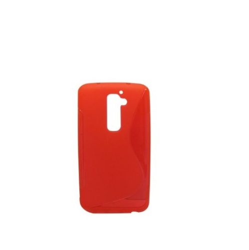 TPU S-line Silicone Rubber Gel Case Cover Skin Accessory for LG Optimus G2 - Red