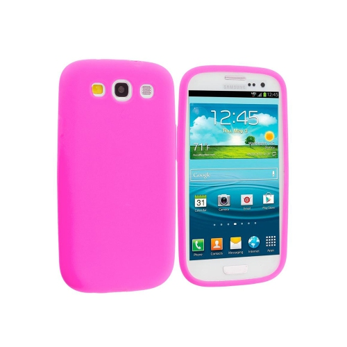 Samsung Galaxy S3 Soft Silicone Rubber Gel case - Hot Pink