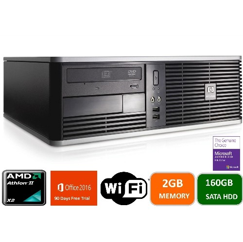 HP DC5750 AMD DUAL CORE -2.0, 2GB MEMORY, 160GB HARD DRIVE, WIN 7 PRO , 1 YEAR WARRANTY -REFURBISHED