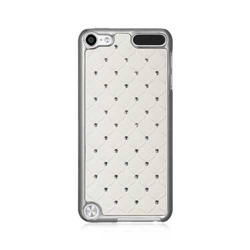 Insten Hard Plastic Case w/Diamond For Apple iPod Touch 5th Gen, White