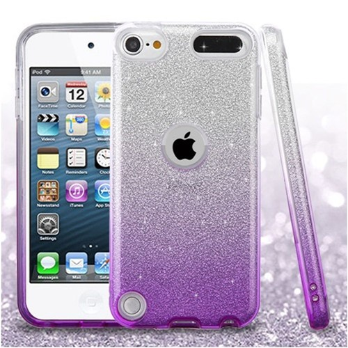 Insten Gradient Hard Glitter TPU Cover Case For Apple iPod Touch 5th Gen/6th Gen, Purple