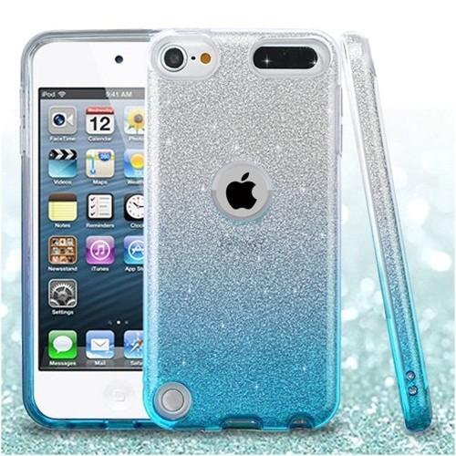 Insten Gradient Hard Glitter TPU Case For Apple iPod Touch 5th Gen/6th Gen, Blue