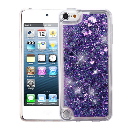 Insten Quicksand Hard Glitter TPU Case For Apple iPod Touch 5th Gen/6th Gen, Purple