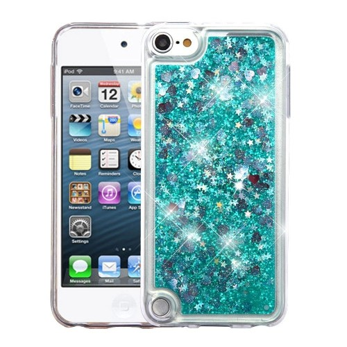 Insten Quicksand Hard Glitter TPU Case For Apple iPod Touch 5th Gen/6th Gen, Green