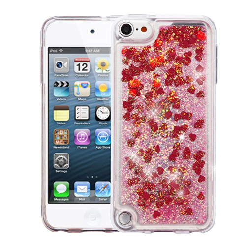 Insten Quicksand Hard Glitter TPU Cover Case For Apple iPod Touch 5th Gen/6th Gen, Red