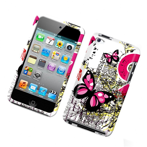 Insten Butterflies Hard Plastic Cover Case For Apple iPod Touch 4th Gen, Multi-Color