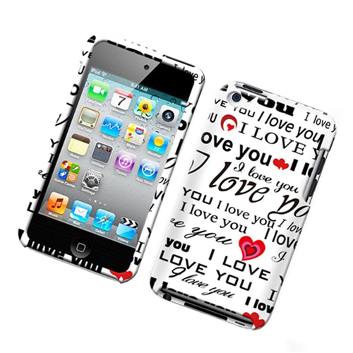 Insten Love Letter Hard Plastic Case For Apple iPod Touch 4th Gen, Multi-Color