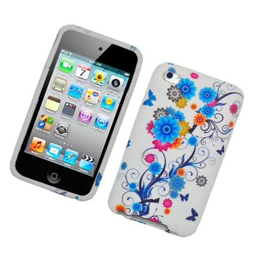 Insten Flowers Hard Plastic Cover Case For Apple iPod Touch 4th Gen, Multi-Color