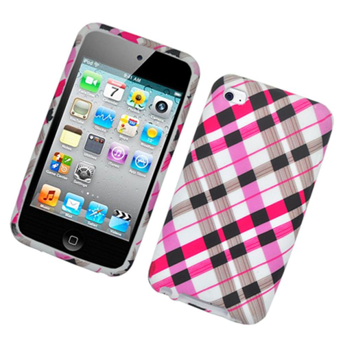 Insten Checker Hard Plastic Case For Apple iPod Touch 4th Gen, Multi-Color