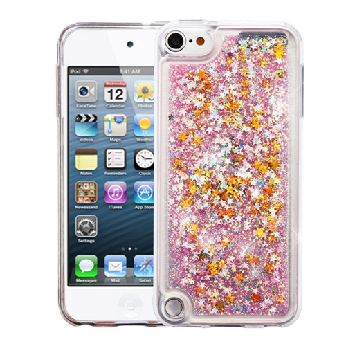 Insten Quicksand Hard Glitter TPU Case For Apple iPod Touch 5th Gen/6th Gen, Pink