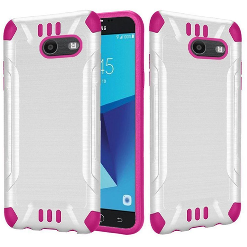 Insten Hard Cover Case For Samsung Galaxy Halo/J7 (2017)/J7 Perx/J7 Prime/J7 Sky Pro/J7 V, White