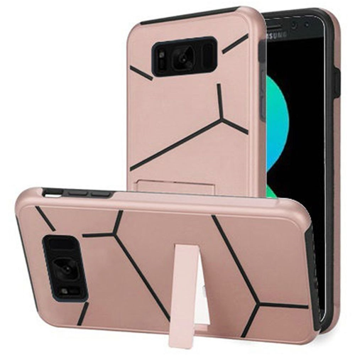 Insten Hard Dual Layer Plastic TPU Case w/stand For Samsung Galaxy S8 Plus, Rose Gold/Black