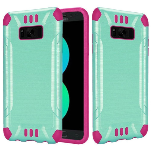 Insten Fitted Soft Shell Case for Samsung Galaxy S8 Plus - Hot Pink;Teal