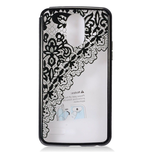Insten Ultra Slim Lace Hard Transparent Plastic TPU Case For LG Stylo 3, Black