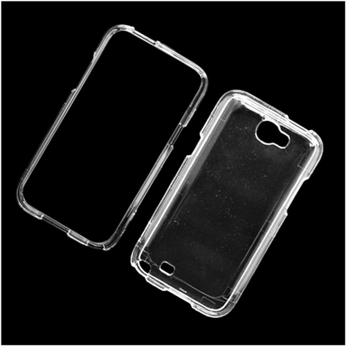 Insten Hard Plastic Case For Samsung Galaxy Note II, Clear