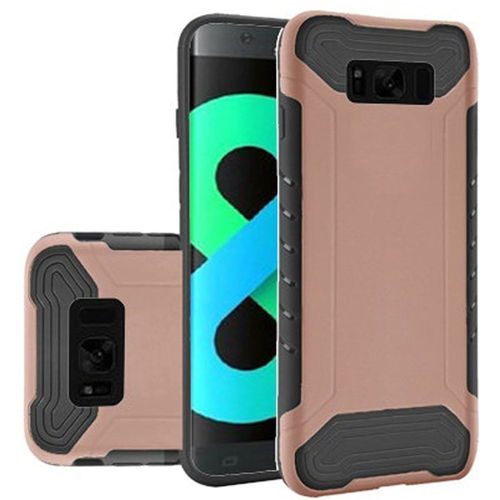 Insten Slim Armor Hard Hybrid Plastic TPU Case For Samsung Galaxy S8 Plus, Rose Gold/Black