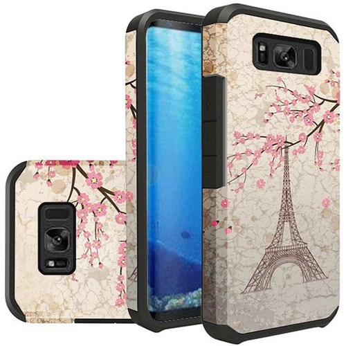 Insten Slim Vintage Eiffel Tower Hard Dual Layer Plastic TPU Case For Samsung Galaxy S8, Multi-Color