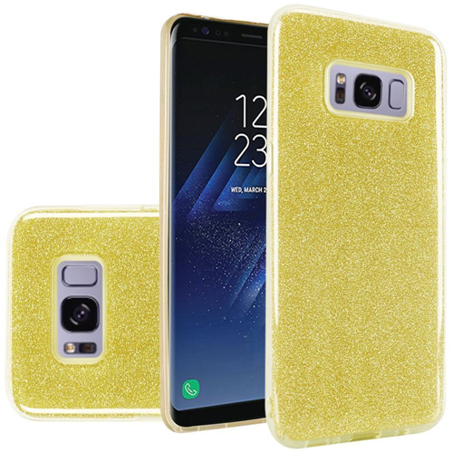 Insten Hard Glitter TPU Cover Case For Samsung Galaxy S8 Plus, Gold