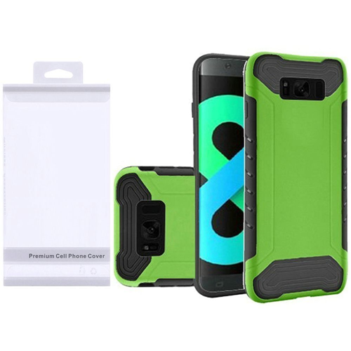 Insten Slim Armor Hard Dual Layer Plastic TPU Case For Samsung Galaxy S8 Plus, Neon Green/Black