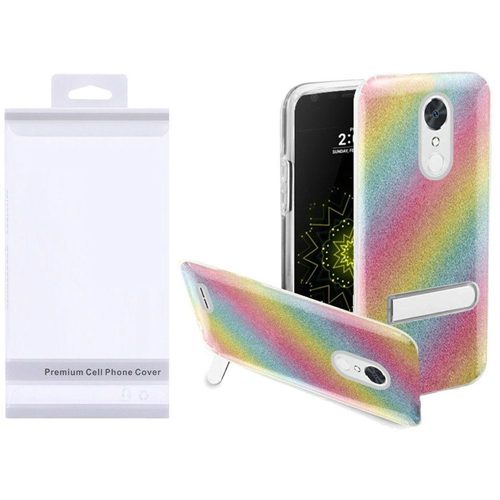 Insten Rainbow Hard Glitter TPU Cover Case w/stand For LG Grace 4G/Harmony/K20 Plus/K20 V, Colorful