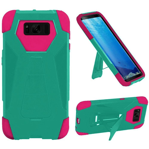 Insten Fitted Soft Shell Case for Samsung Galaxy S8 - Hot Pink;Teal