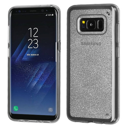 Insten Glitter Rubber Cover Case For Samsung Galaxy S8, Clear