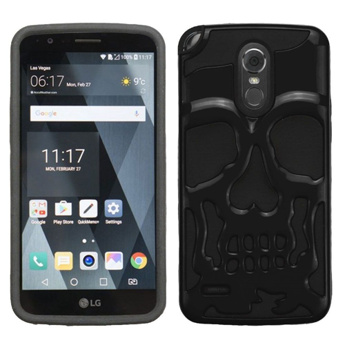 Insten Skullcap Hard Dual Layer Plastic TPU Case For LG Stylo 3 Plus, Black
