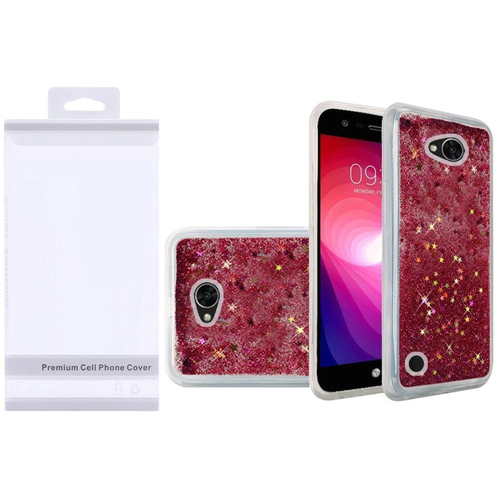 Insten Quicksand Hard Glitter TPU Case For LG Fiesta LTE/K10 Power/X Charge/X Power 2, Hot Pink
