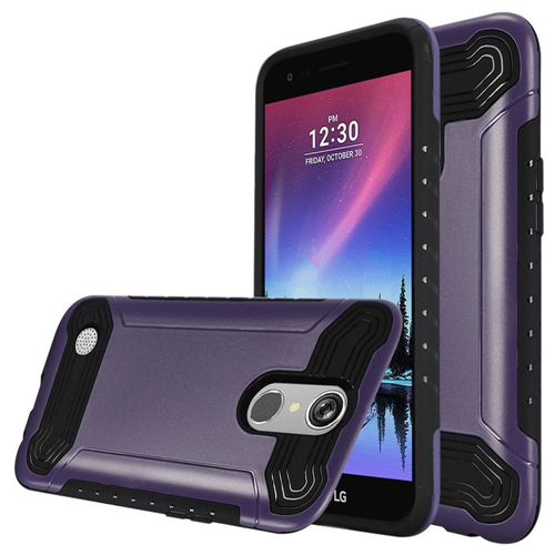 Insten Hard Hybrid TPU Case For LG Grace 4G/Harmony/K20 Plus/K20 V, Purple/Black