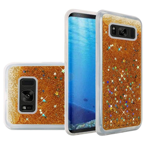 Insten Quicksand Hard Glitter Cover Case For Samsung Galaxy S8, Gold