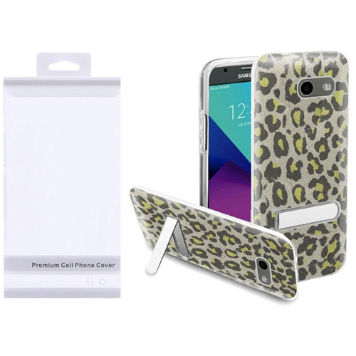 Insten Leopard Hard Glitter TPU Cover Case w/stand For LG Aristo/K8 (2017), Neon Green
