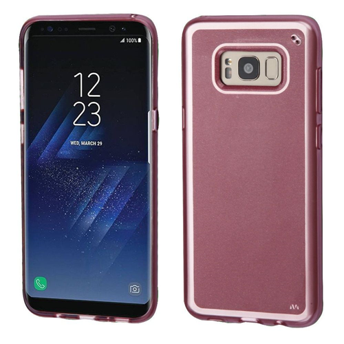 Insten Rubber Cover Case For Samsung Galaxy S8, Rose Gold