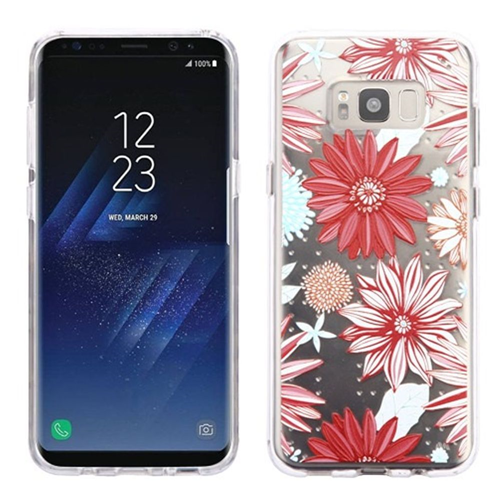 Insten Spring Daisies Rubber Case For Samsung Galaxy S8, Multi-Color