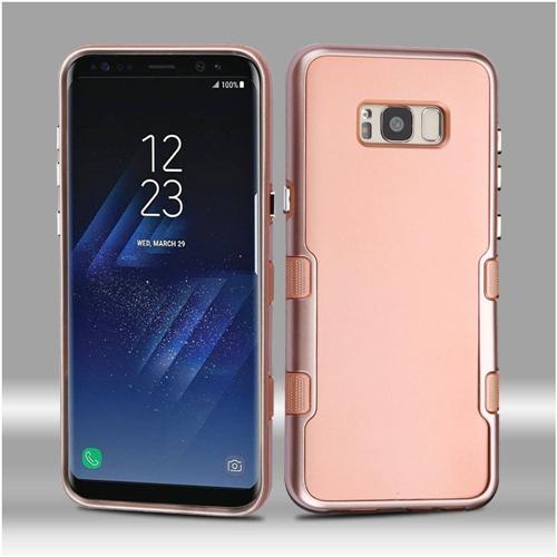 Insten Tuff Hard Dual Layer Metallic TPU Case For Samsung Galaxy S8, Rose Gold