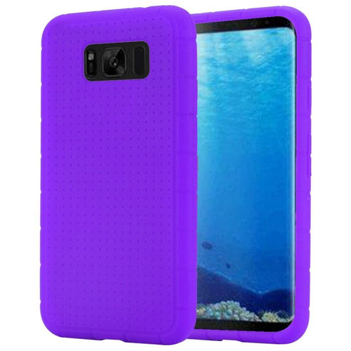 Insten Rugged Gel Rubber Cover Case For Samsung Galaxy S8, Purple