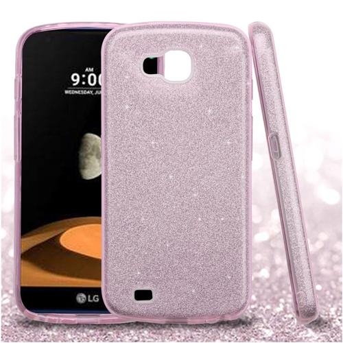 Insten Glitter Hard Hybrid Plastic TPU Case For LG V9/X Venture, Pink