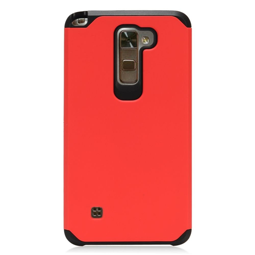 Insten Hard Dual Layer TPU Case For LG Stylo 2/Stylus 2, Red/Black